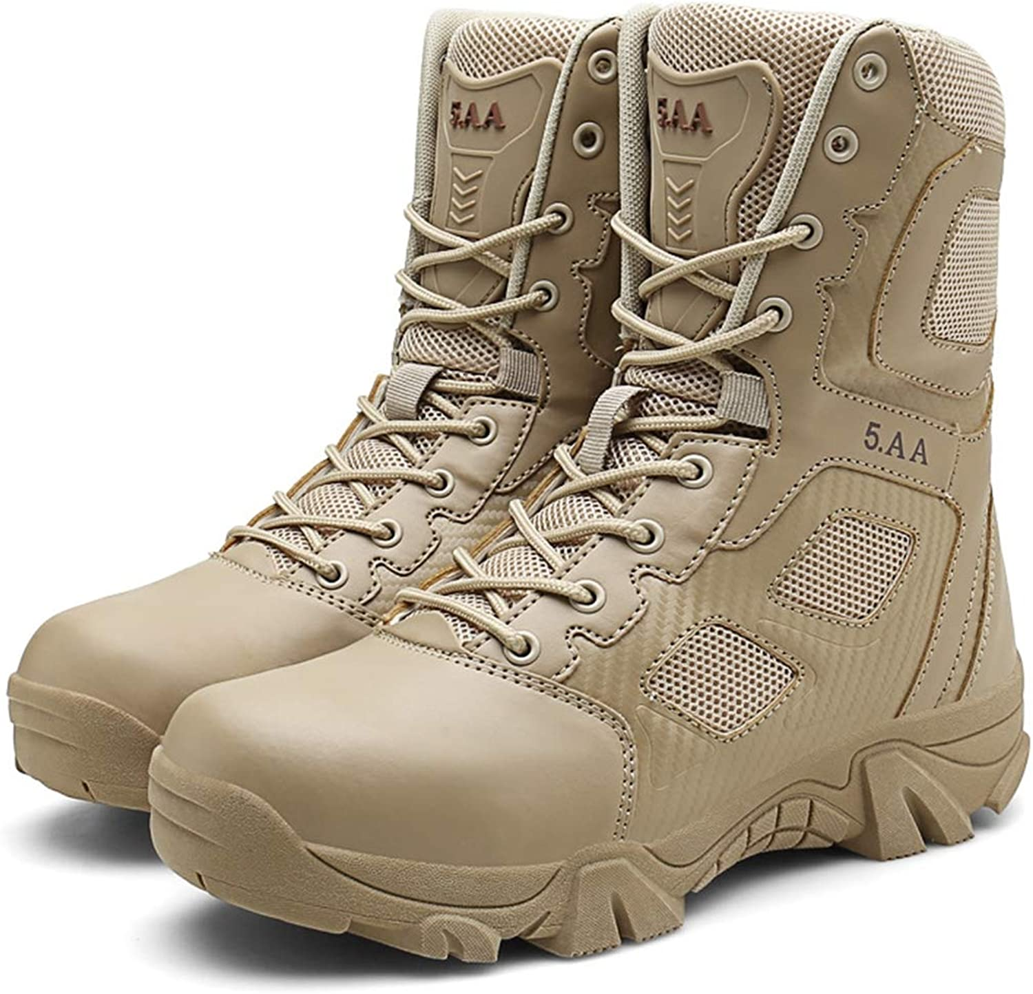 Men Military Combat Boots Ankle Army Lace-Up Leather Tactical Armed shoes Outdoor Hiking Desert Footwear