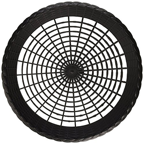 Valuemama Plastics -Paper Plate Holder Black Plastic Wicker for 9 inches Plates, Pack of 12 Reusable
