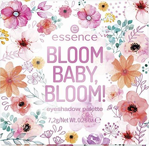 Essence BLOOM BABY, BLOOM! Eyeahadow Palette Inhalt: 7,2g Lidschattenpalette mit 9 unterschiedlichen Farben. Lidschatten