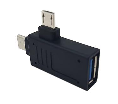 2-in-1ÿMicroÿUSBÿ3.0ÿ&ÿUSBÿ3.1ÿTypeÿCÿUSBÿOTGÿAdapter,SinLoonÿThreeÿModeÿUSB-Aÿ3.0ÿUSB-C Micro USBÿ,USBÿ3.0ÿFemaleÿtoÿUSBÿCÿMaleÿOTGÿDataÿHubÿConverter(Type c M-USB 3.0 F)