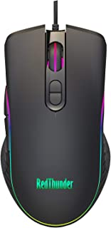RedThunder Gaming Mouse Wired, 7 Programmable Buttons, Chroma RGB Backlit, 6400 DPI Adjustable, Comfortable Grip Ergonomic...