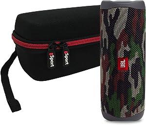 JBL FLIP 5 Portable Speaker IPX7 Waterproof On-The-Go Bundle with gSport Deluxe Hardshell Case (Green Camo)