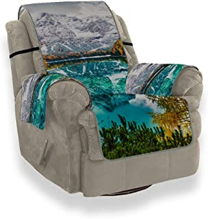 CHQTG Sofa Slipcover Home Fashion First Snow On Braies Lake Colorful Slipcover Furniture Protector21 Inch, Ideal Recliner Slipcovers for Pets & Children