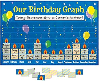 Really Good Stuff 159979 Our Birthday Graph Space-Saver Pocket Chart