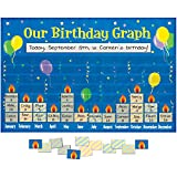 preschool birthday chart - Really Good Stuff 159979 Our Birthday Graph Space-Saver Pocket Chart