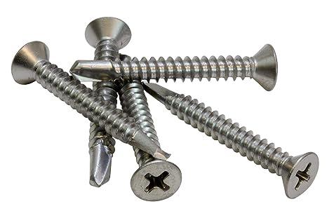 tornillos de fijaci/ón de cabeza avellanada plateada con caja de pl/ástico 800 tornillos autoperforantes de cabeza plana M2-4 mm, 5 mm, 6 mm, 8 mm, 10 mm, 12 mm, 16 mm, 20 mm