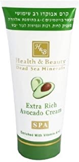 Health & Beauty Dead Sea Minerals H&B Moisturizing Nourishing Cream by Bethlehem Gifts TM (Extra Rich Avocado Cream)