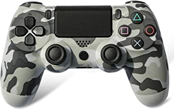 Wireless Controller Compatible with Playstation 4 Console, Ps4 Controller (Gray Camo)