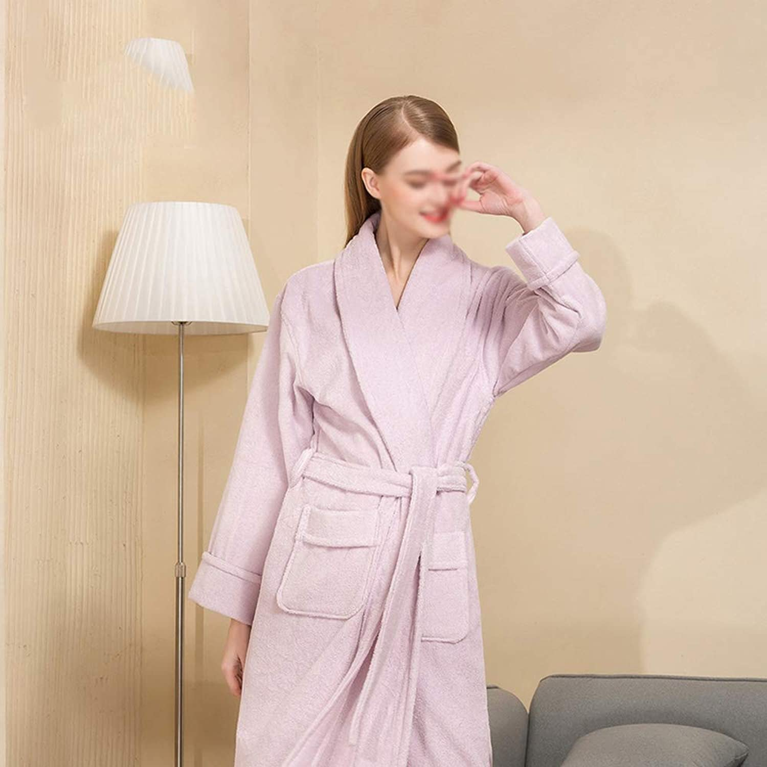 Bathrobes, Bathrobe for Women,Extra Long Cotton Toweling Robes Adult Hotel Dressing Gown
