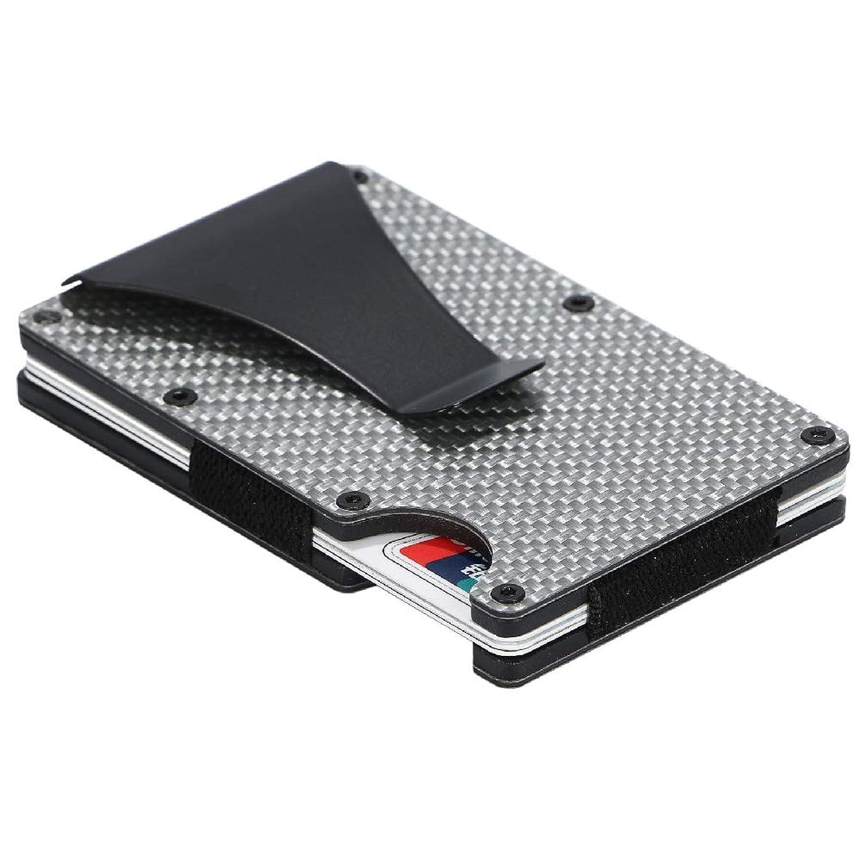 Twinkle goods (ツインクルグッズ) マネークリップ カーボン 40g 超軽量 カードケース クレジットカード 紙幣収納 軽量 薄型 携帯に便利 RFID スキミング 磁気防止 ビジネスアイテム カード10枚収納 メンズ レディース ユニセックス