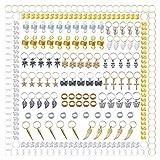 300 piezas de rastas de aluminio multiestilo, trenzas de metal para el cabello Accesorios para adornar el cabello