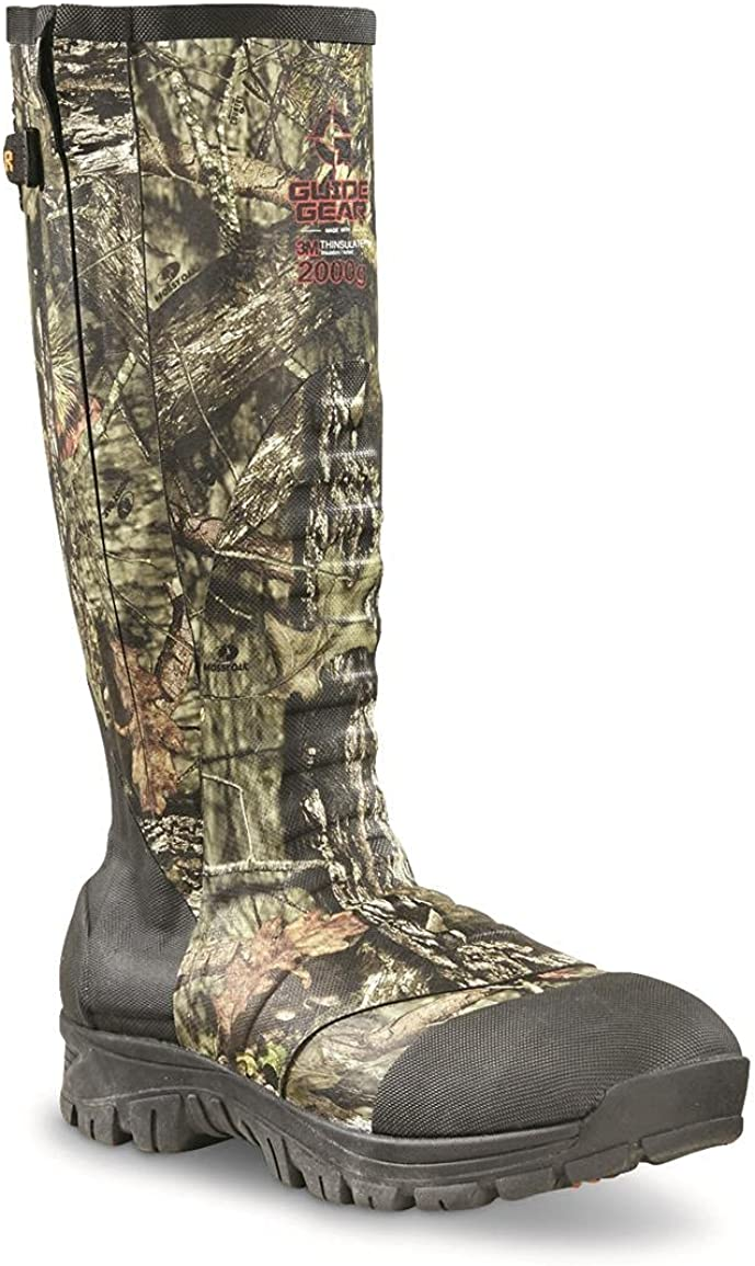 Guide Gear Men's Side Max Max 71% OFF 80% OFF Zip Boots Rubber Ankle Fit Insulated