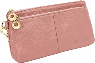 Women's Wristlet Wallet,Genuine Leather RFID Blocking Phone Clutch Purse,Large Capacity Handbag with Exquisite Packaging