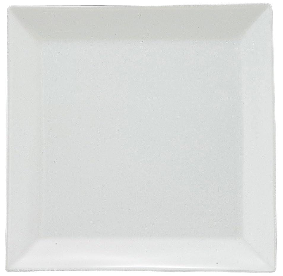 火炎解釈する平和的スクエアプレート ホワイト L (262×262×22mm) ZA-419024