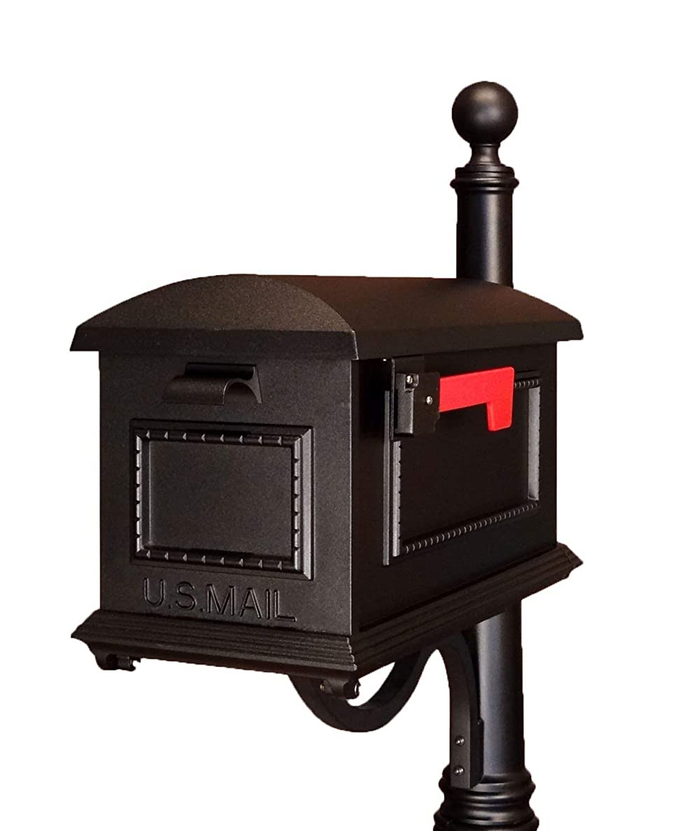 Special Lite Products SCT-1010-BLK Traditional Curbside Mailbox, Black