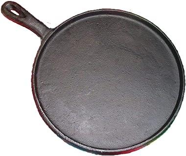 Oro Import Cast Iron Griddle Round Comal Fajitas (8 In)