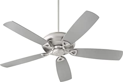 Quorum 40625-65 Transitional 62``Ceiling Fan from Alto Collection in Pewter, Silver Finish, Satin Nickel