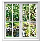 Premiumdesign Wandtattoo Fenster Ausblick in Garten in