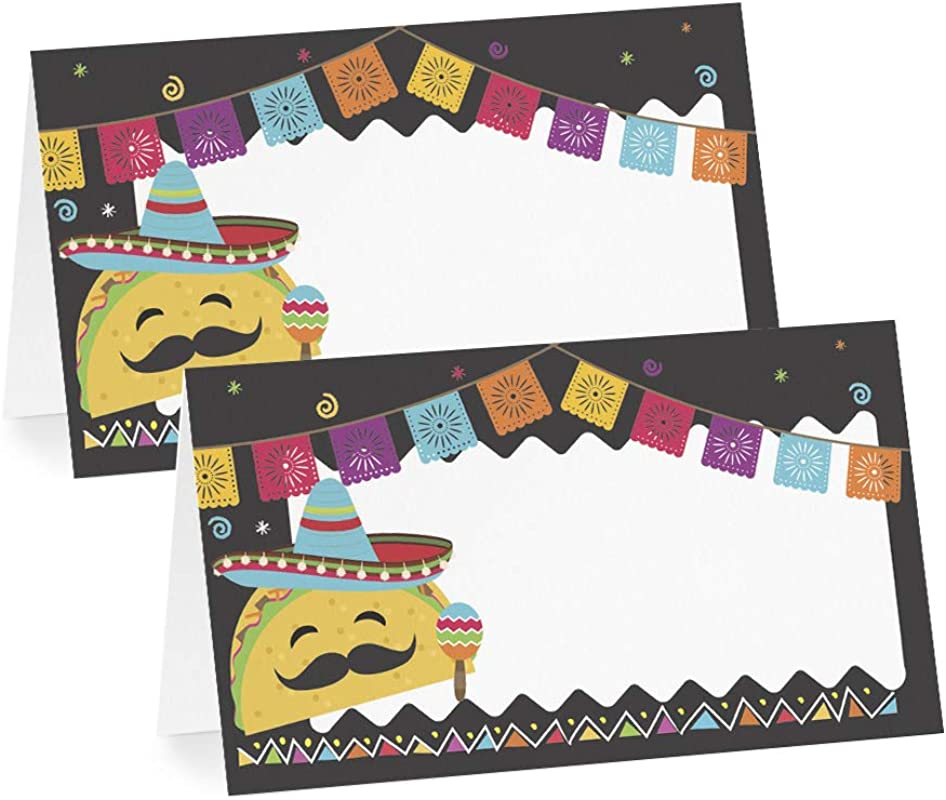 Your Main Event Fiesta Taco Party Tent Cards Food Labels For Buffet And Decorations Perfect For Birthdays Baby Showers Anniversary Cinco De Mayo Parties Pack Of 12