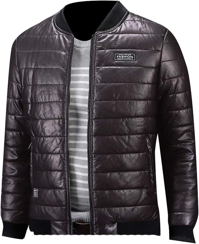 744abe12 DressUMen Plus Plus Plus Size Windproof Juniors' Baseball Pu Leather Jacket  cf265b