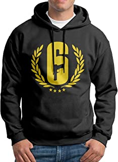 Men's Hoodies Rainbow Six Siege Casual Hooded Drawstring Sweatshirts
