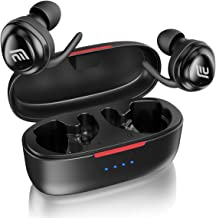 Bluetooth Headphones, 5.0 True Wireless Earbuds Deep Bass Sound Bluetooth Earphones Auto Pairing 20H Playtime in Ear Headset with Built in Mic and Portable Charging Case for Sports Running