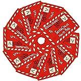 sobre de Navidad Carta a Santa Claus Paquete de 10 Fieltro Rojo Bolsa de Regalo de Dulces de Navidad...