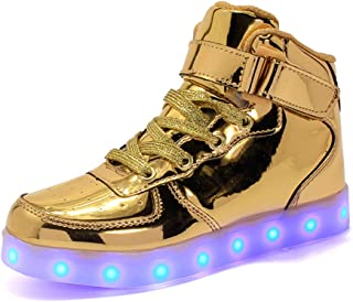 Adult High Top LED Light Up 11 Colors USB Charging Flashing Sneakers for Christmas