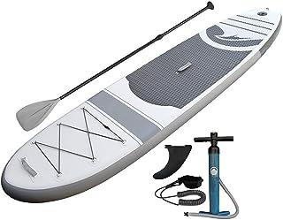 Sviper Tabla de Paddle Tabla de Surf Sup Superior con Tabla y Tabla de Surf Inflable de pie Unisex for Adultos con Pala y Correa Paleta Flotante Ajustable (Color : Blanco, tamaño : 305x79x15cm)