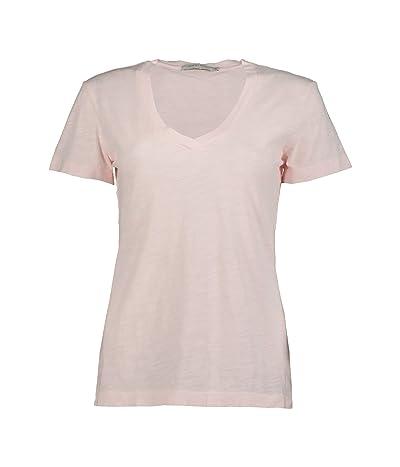 Mod-o-doc Slub Jersey S/S V-Neck Tee (Pale Pink) Women