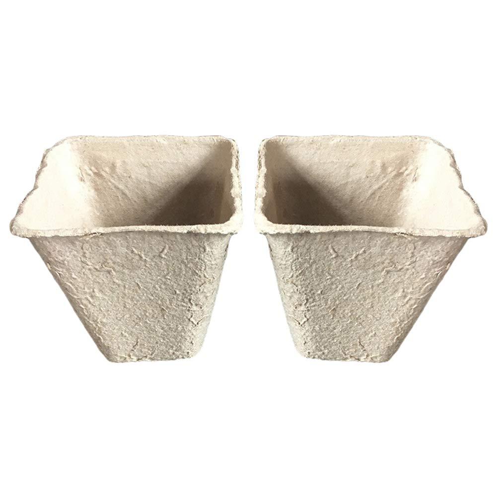 ypypiaol 100Pcs Plant Nursery Paper Pot Biodegradable Seedling ...