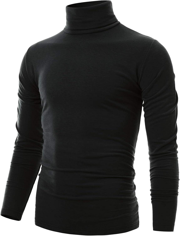 List price Ohoo Mens Slim Fit Soft Financial sales sale Cotton Turtle Lightweightweight Pullover