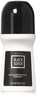 Set of 4 Avon Black Suede Roll-On Anti-Perspirant Deodorant Rolls