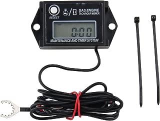 Digital Tiny Tachometer Tach Hour Meter Job Timer RPM Counter for Snowmobile Skis Motor Bike Go Kart Lawn Mower