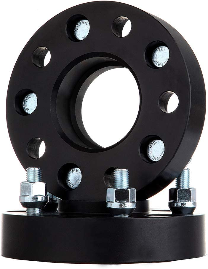 WHEELTECH 2Pcs 1.25 32mm Thick 5x4.75 to 5x4.75 5 Lugs 12x1.5 Studs Wheel spacers 5x120.65mm fit for 1984-2013 for Che-vrolet Corvette