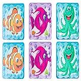 1MI Unishop 6 Piezas Pegatinas Antideslizante Infantiles para Bañera, Adhesivos para Bañera y Ducha con Dibujos de Niños y Bebés, Accesorios de Baño (Tipo 2)