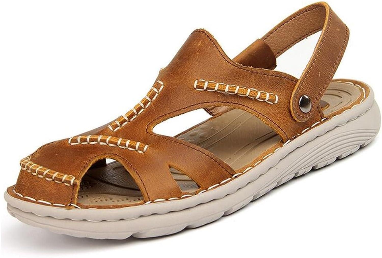 HUAN Mans skor läder Springaa sommar Soles Soles Soles Comfort Sandals gående skor for Casual utomhus svart, bspringaaa  upp till 60% rabatt