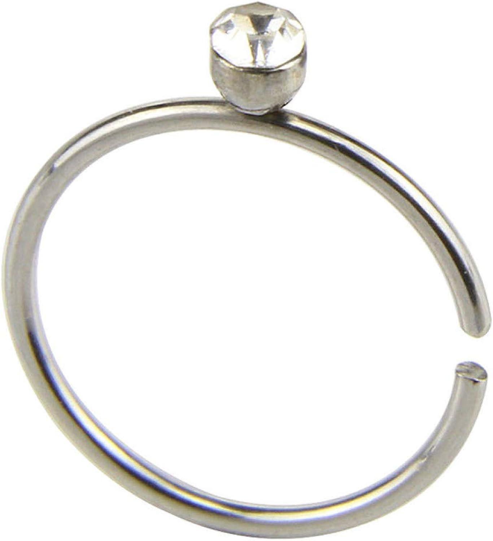 shiYsRL Hypoallergenic Nose Rings Nose Hoops Nose Studs, 14Pcs/Set Unisex C/O Shape Rhinestone Stainless Steel Nose Stud Piercing Jewelry Women Men