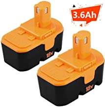 [Upgraded] 3600mAh Ni-Mh Replacement for Ryobi 18V Battery One+ P100 P101 ABP1801 ABP1803..