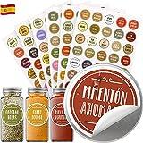 Vinta 210 etiquetas adhesivas en español para tarros y frascos de...