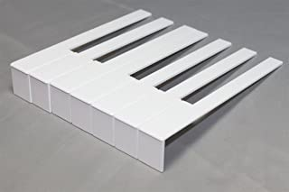 German Piano Keytops Light Cream Color - Piano Key Replaceme