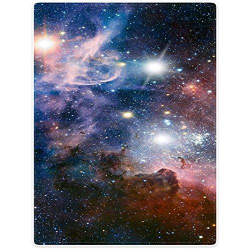 Violetpos Dick Decke Weich Wärme Gemütlich Flanell-Fleece Sofadecke Deckeldecke Schön Lila Universum Galaxie Sterne Nebel Wolf 125 x 150 cm
