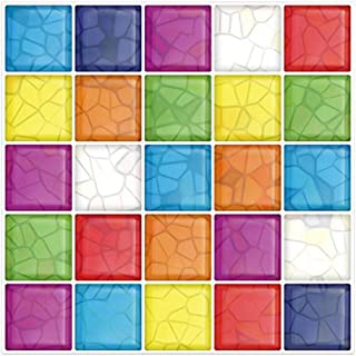 Cocotik Peel-N-Stick 3D Kitchen Backsplash Wall Tile Vinyl Wall Sticker, 10