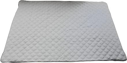 ダブルガーゼ HarvestRoom(ハーベストルーム) 敷きパッド ファミリーサイズ (200x205cm)敷き布団 コットン 綿100% (キング, グレー)