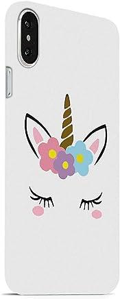 MADANYU Cute Little Unicorn So Girly Designer Printed Hard Back Shell Case for Apple iPhone X