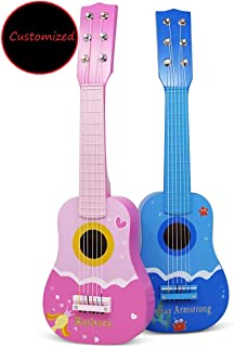 BrightTexts Personalized Kids Guitar, Customized Toy Instrument for Kids, Custom Kids & Toddler Birthday Gift, Personalized Kids Gift Idea