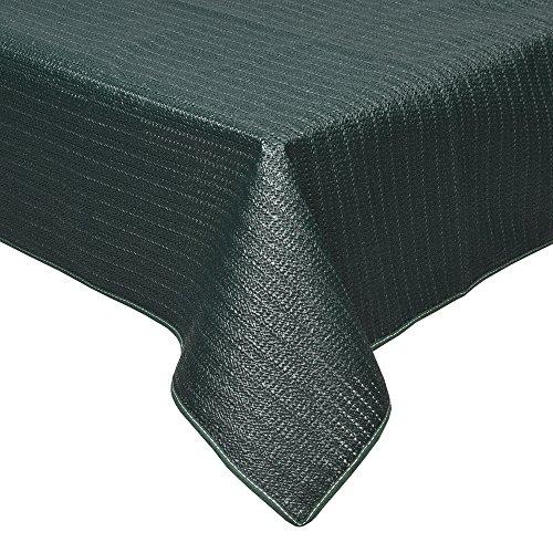 Beautissu Nappe de Jardin en PVC Rectangulaire Lena Vert 130x160cm Lavable et Resistant aux intemperies