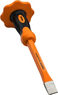 Finder 12-Inch Heavy Duty Flat Chisel With Hand Protection, Flat Head, Demolishing/Masonry/Carving/Concrete Breaker Chisels