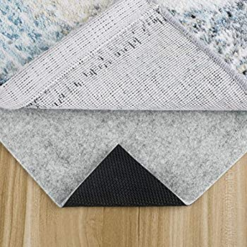 MAYSHINE Thick Non-Slip Area Rug Pad Mat Non-Woven Fabric for Hard Surface Floor for Runners Keep Safe and in Place for Area Rugs  3  x 5