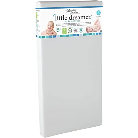 Moonlight Slumber Dual Sided Baby Crib Mattress. Firm Sided for Infants Reverse to Soft Side for Toddlers. Easy to Clean Waterproof and Odor Resistant (Little Dreamer)